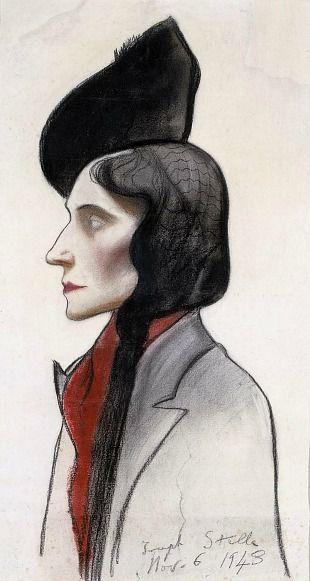 Joseph Stella, Portrait of Clara Fasano (1943)