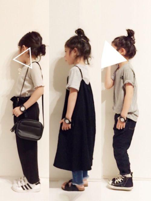 yuuunaさんの「レースアップ5分袖Tシャツ(petit main)」を使ったコーディネート