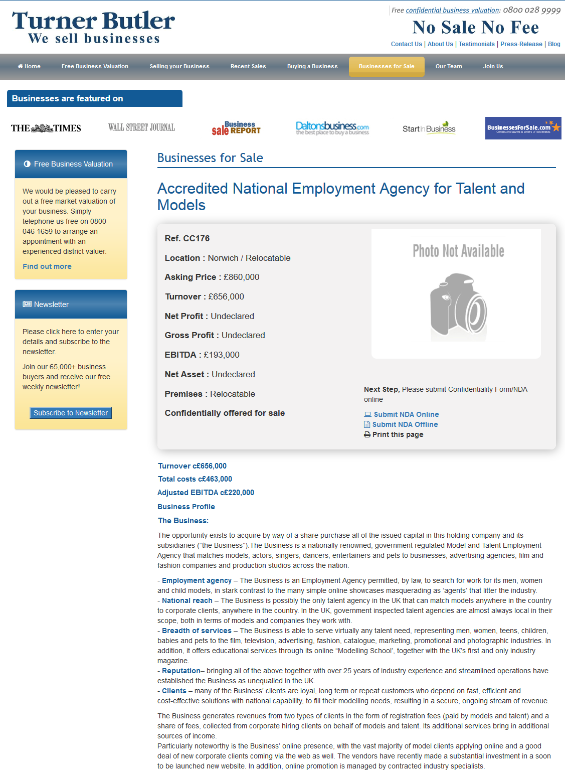 Businesses For Sale Accredited National Employment Agency For
