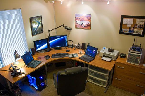home office technology. Top 96 Kick Ass Home Office Setups | Nerd Business Technology E