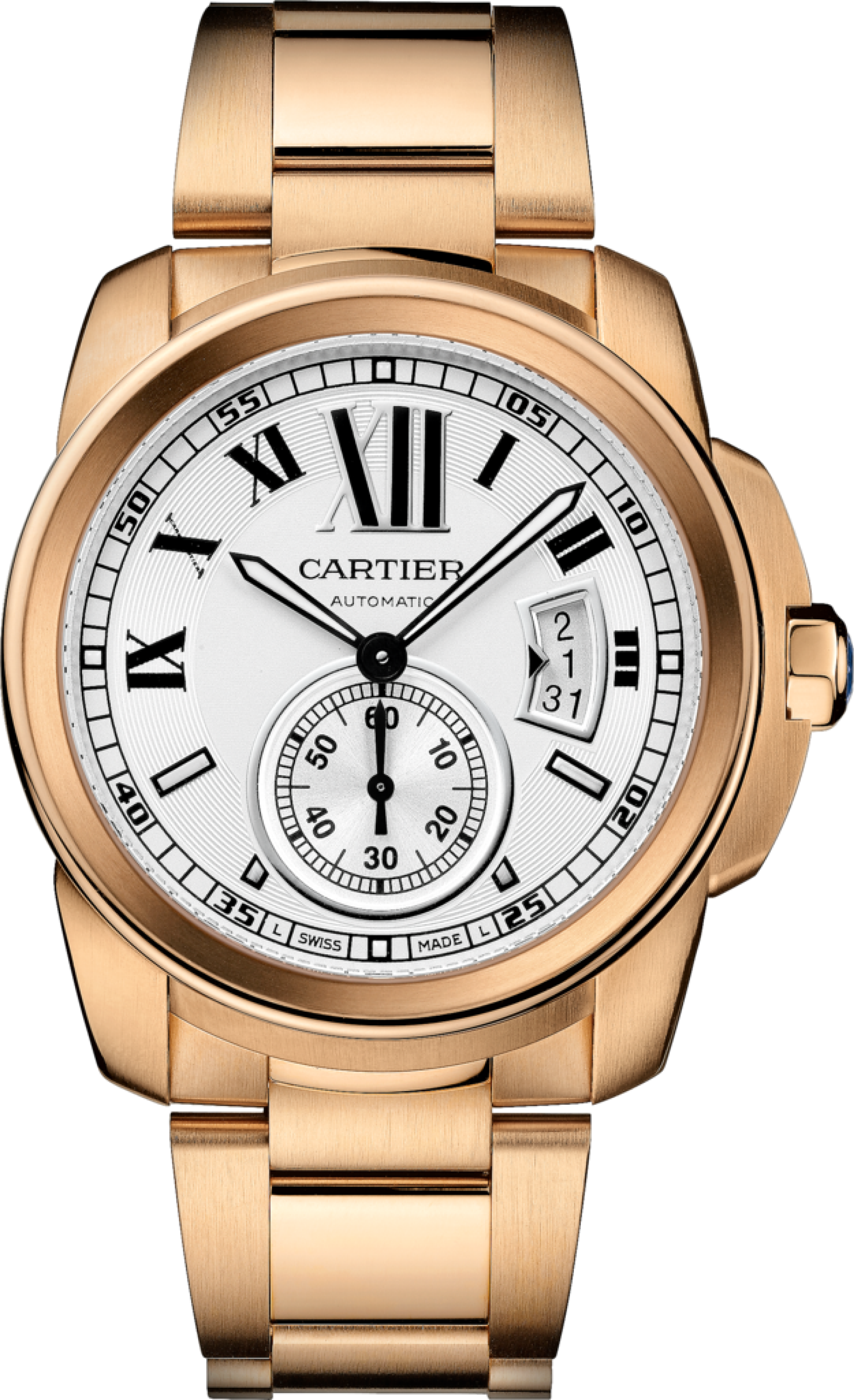 071d4d91e8b Cartier Calibre De Cartier W7100018 Pink (Rose) Gold Watch