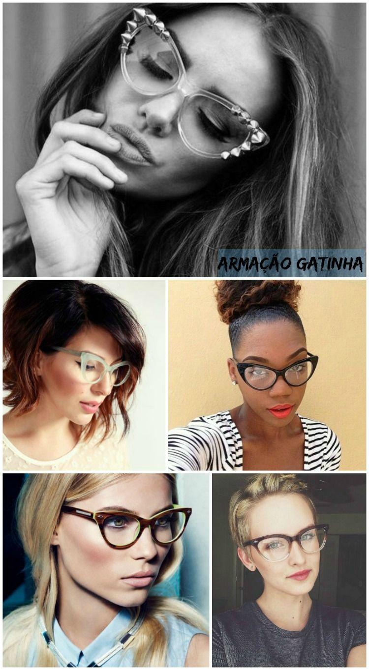 90f6898502553 Óculos Gatinha e outros modelos de óculos de grau super atuais - modernos e…