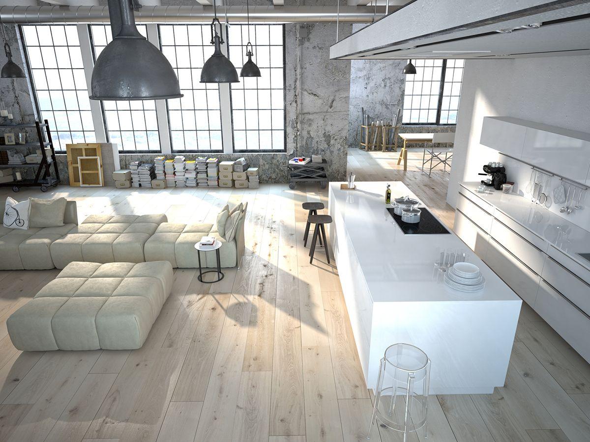 un loft spacieux et chic par gosni design d coration d 39 int rieur d co de luxe id es d co. Black Bedroom Furniture Sets. Home Design Ideas