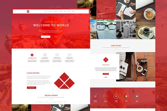 WW - One Page Responsive Theme by codytheme on Creative Market