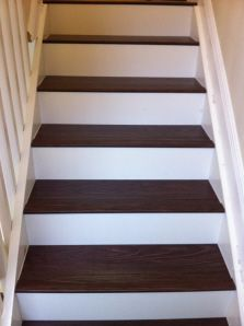 Laminate Wood Stairs To Match Wood Tile Floors Home Remodeling Rustic Laminate Flooring Classy Decor