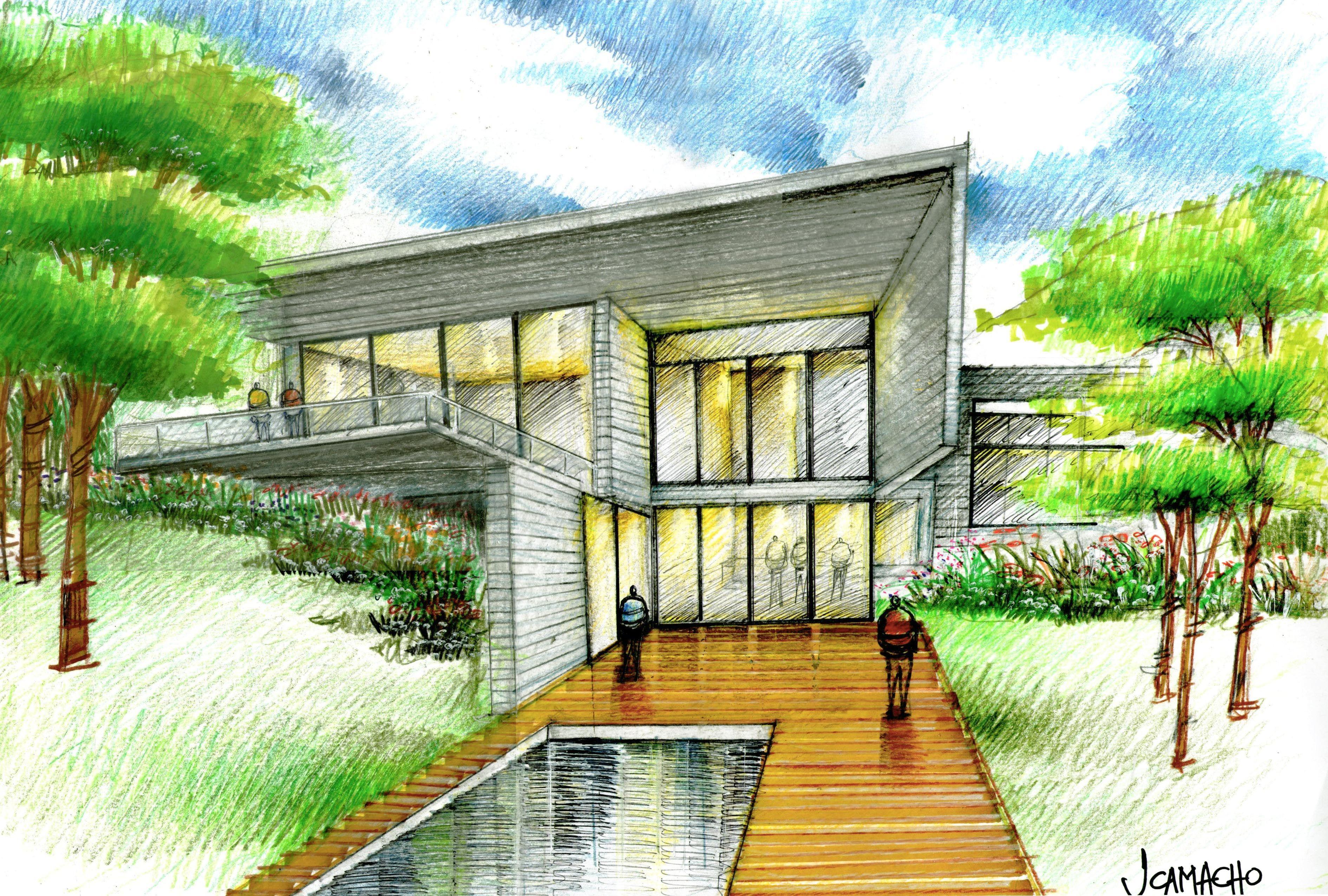 Concreto Y Luz Bocetos Arquitectura Bocetos Arquitectonicos Dibujo Arquitectonico
