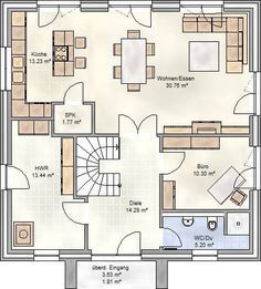 art 155 mediterraner stadtvilla grundriss mit ber 150 qm wohnfl che planos pinterest. Black Bedroom Furniture Sets. Home Design Ideas