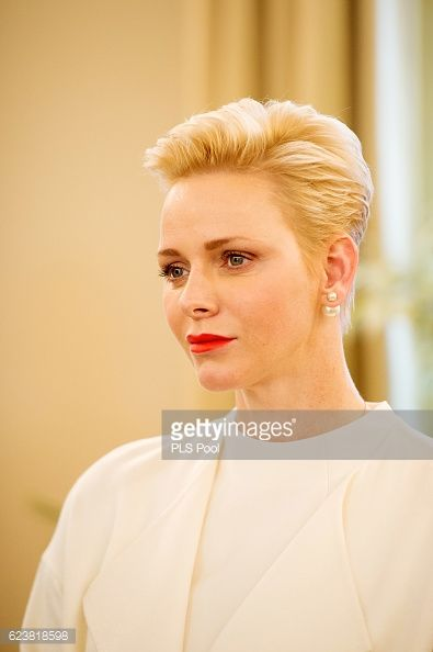 Princess Charlene attends the Parcels Distribution At Monaco Red Cross Headquarters on Nov 17 2016 in Monaco