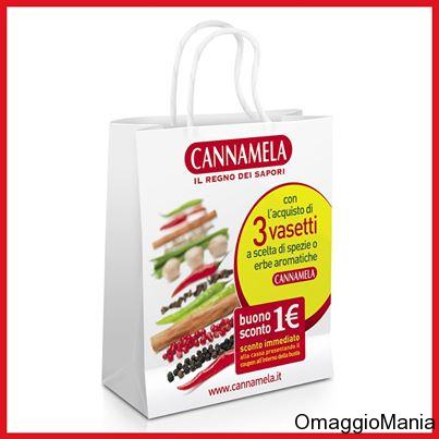 Shopper omaggio e buono sconto Cannamela - http://www.omaggiomania.com/buoni-sconto-sui-prodotti/shopper-omaggio-e-buono-sconto-cannamela/