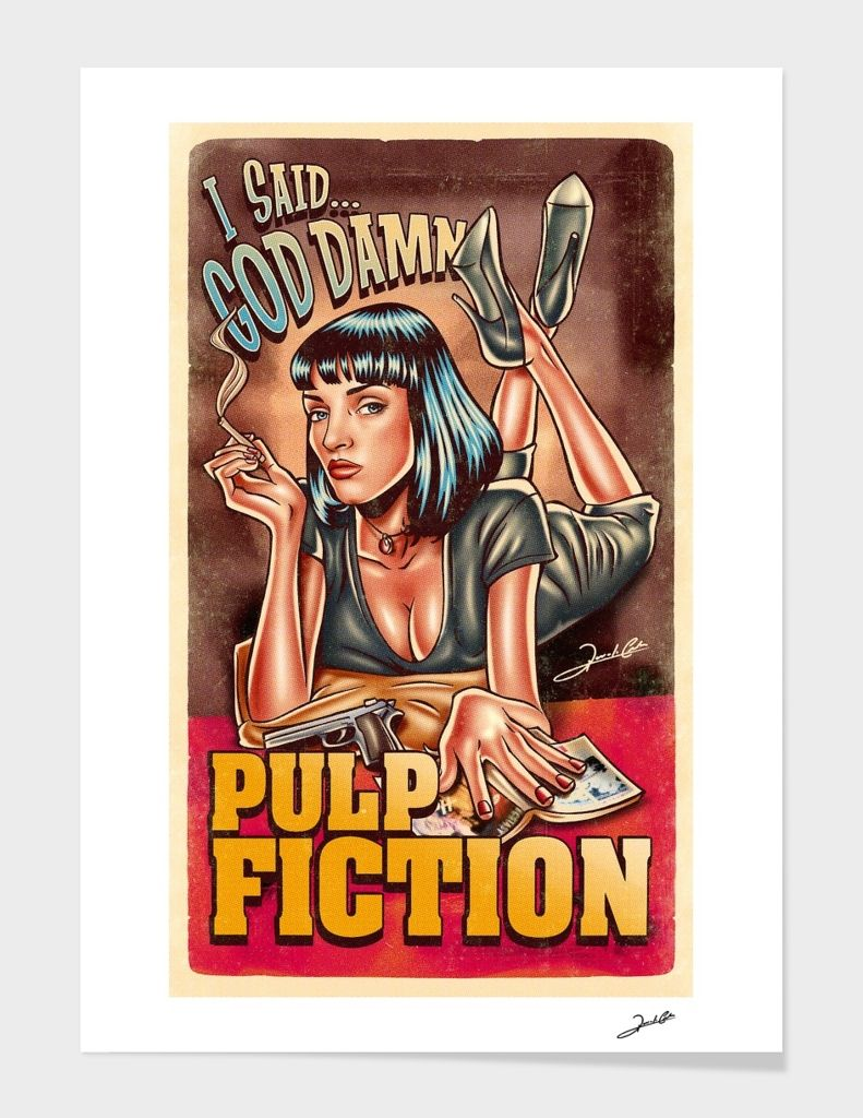 «Mia Wallace» Art Print by Renato Cunha - Limited Edition from $29.9 | Curioos