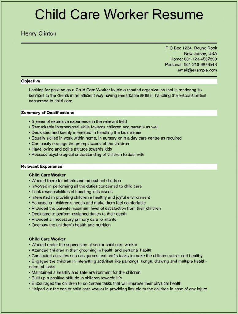 Child Care Worker Resume Http Carrerresume Info Sample Resume Child Care Worker Resume 1423 Care Jobs Child Care Worker Childcare Jobs