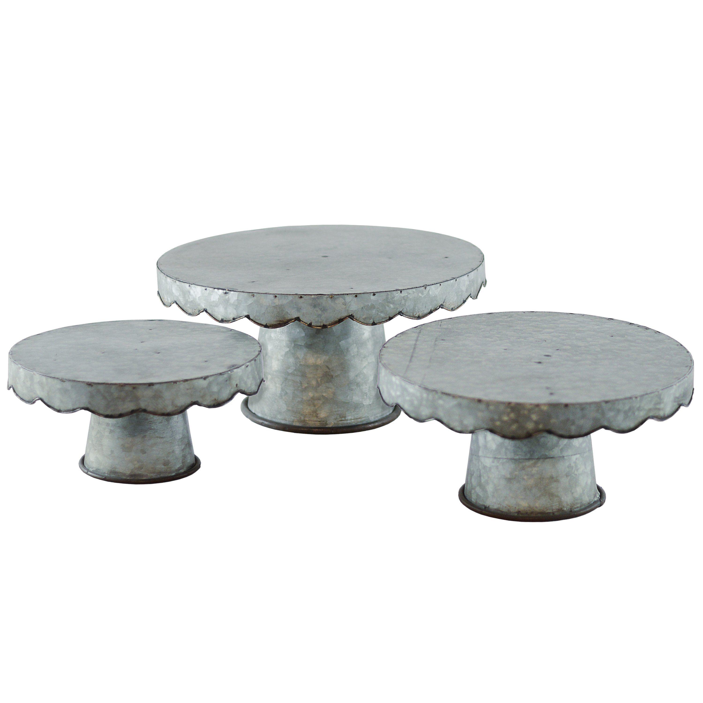 galvanized cake stand set