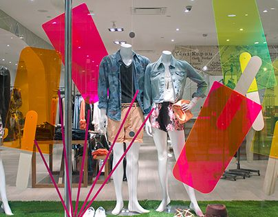 Plenty Popsicle Party Window Display Design by arithmetic creative in Vancouver, Canada. ⓔⓣⓒ