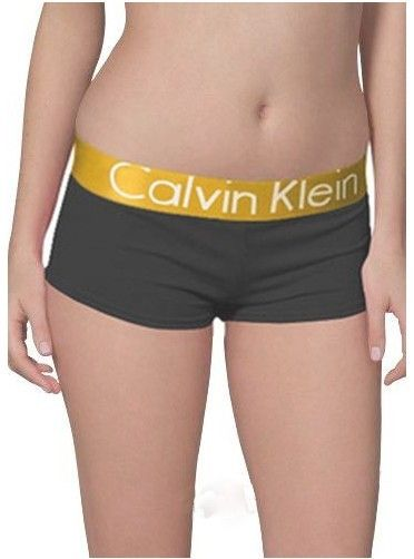 Calvin Klein Womens Boxer Black Golden Steel Underwear   Tomboy ... 0a092022eb