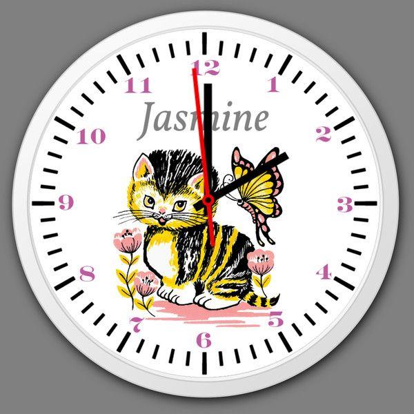 Uhren Kinder Wanduhr personalisiert Kinderzimmer Wanduhr