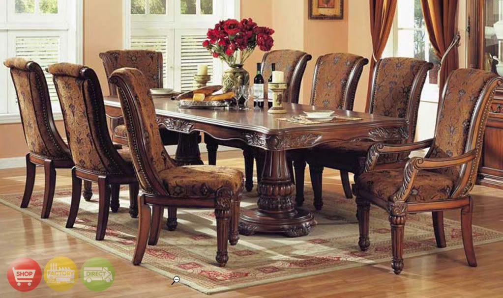 estelle formal dining room furniture 9 piece set traditional