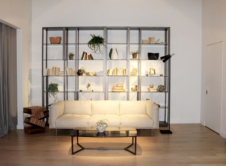 New Arrivals The Tortona Bookshelves And Raj 6 Low Table By Gallotti Radice Paired With Rod Sofa Living Divani Balancing Boxes Side Porro