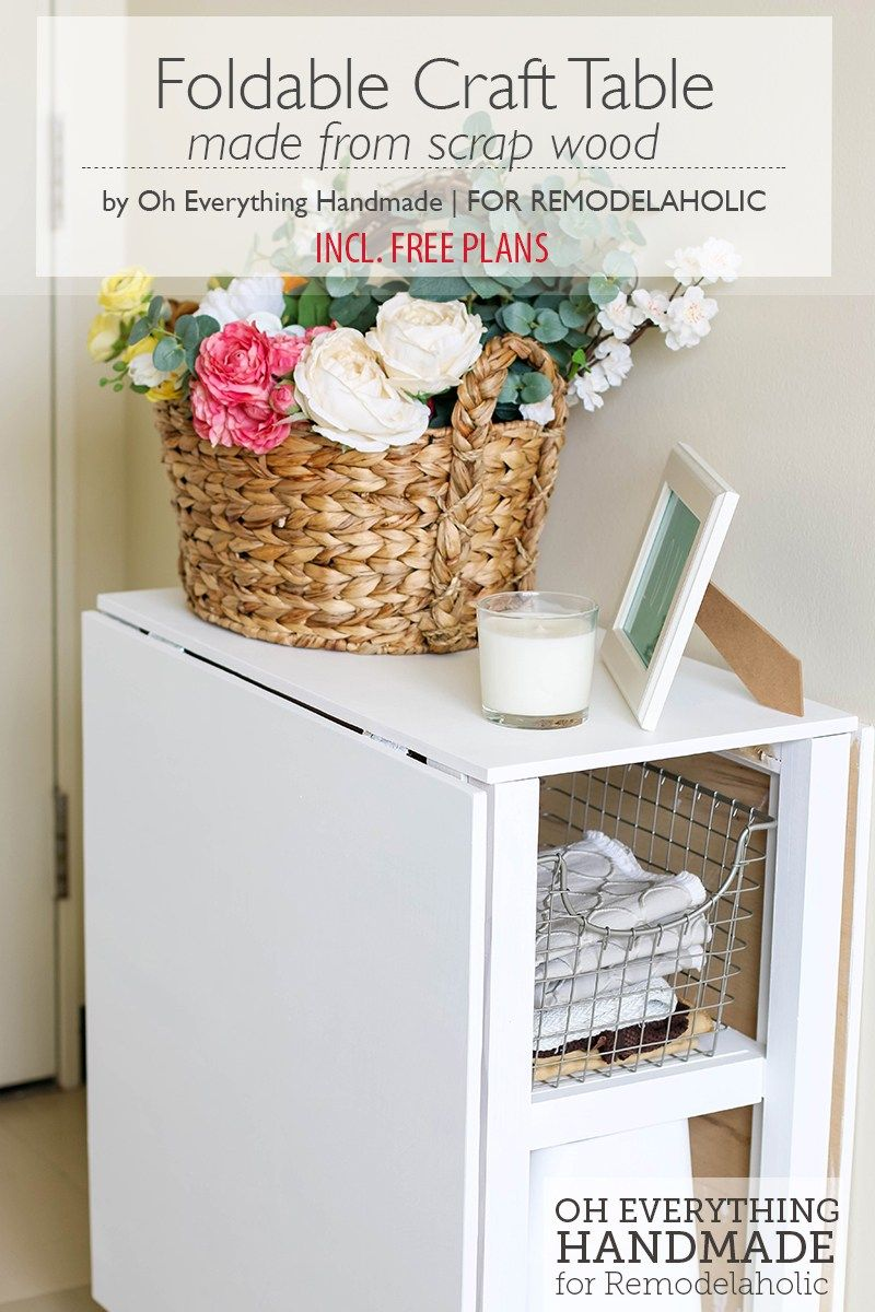 Make Your Small Craft Area Work With This Space Conscious Diy Foldable Craft Table Built From Inexpensiv Craft Table Diy Craft Tables With Storage Craft Table