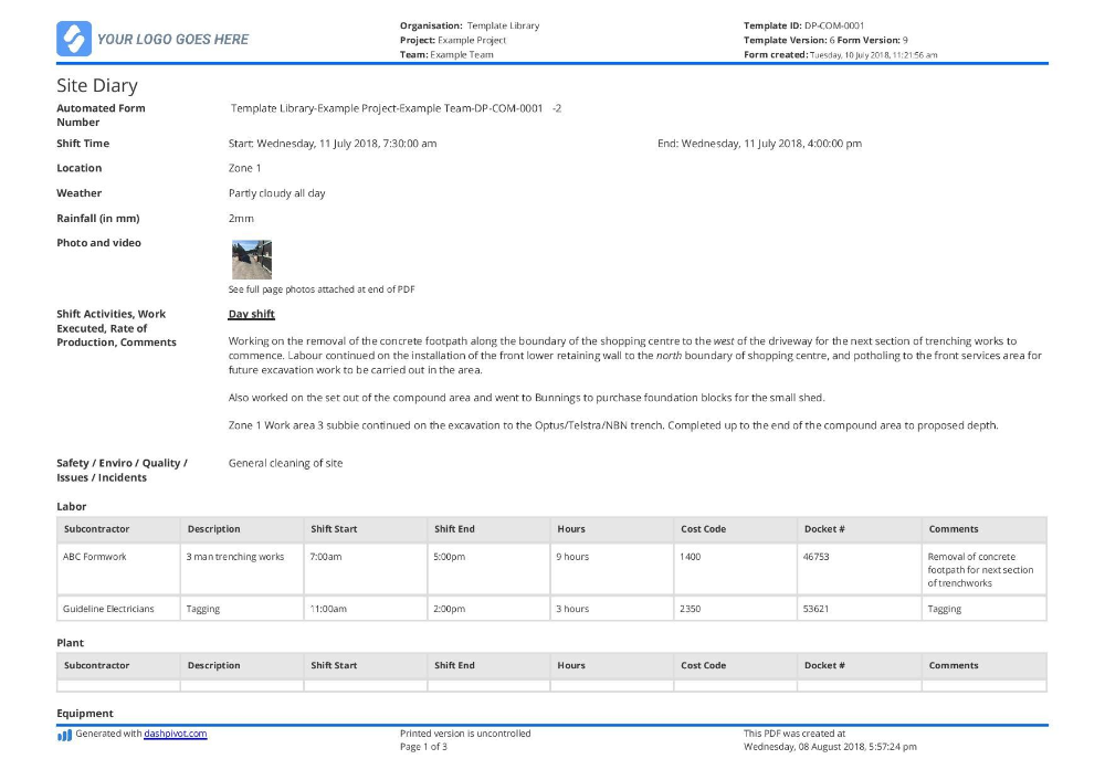 M&E Report Template Doc (1) TEMPLATES EXAMPLE in 2020