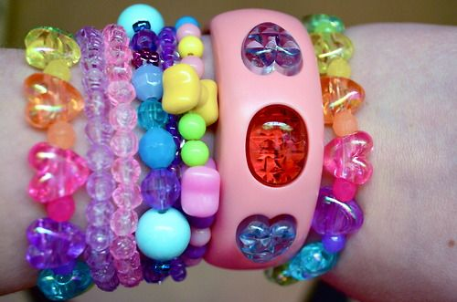Colorful Chunky Plastic Bracelets