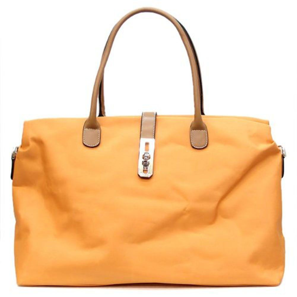 Tosca Oversized Nylon Travel Tote Handbag Detachable Shoulder Strap (Light Pink): Handbags: Amazon.com