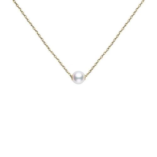 Mikimoto 18K Gold Akoya Pearl Pendant Necklace (More Color Options)