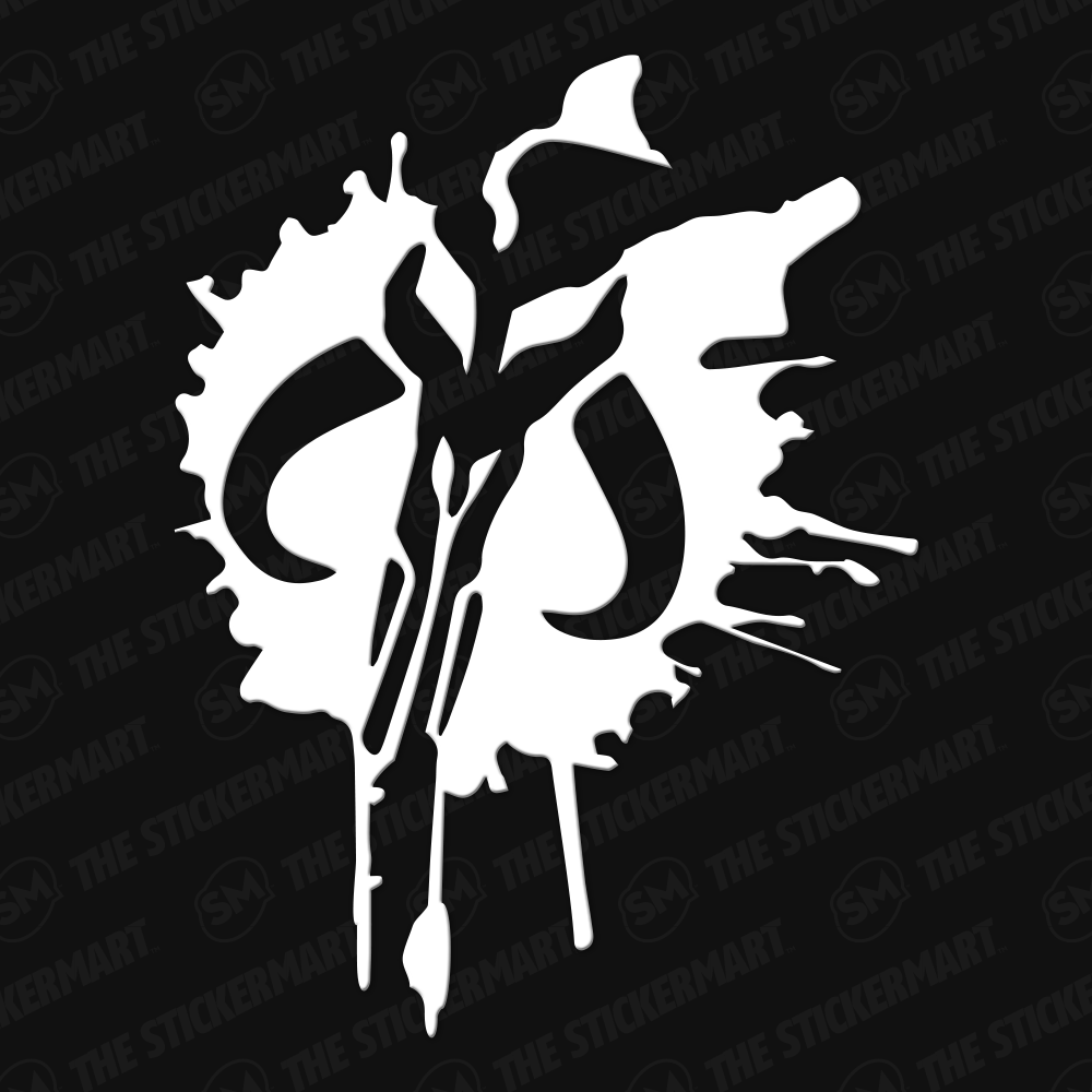 Mandalorian Mythosaur Symbol Splatter Vinyl Decal Mandalorian Symbol Vinyl Decals Star Wars Images