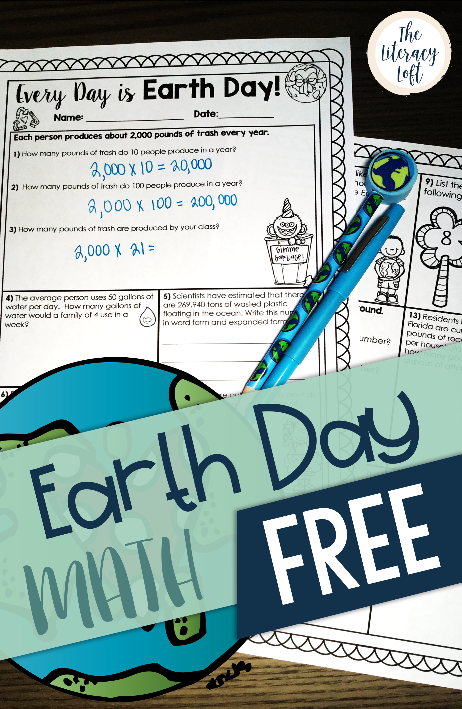 Earth Day Math FREE // Happy Earth Day! This printable can be ...