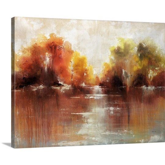 Great Big Canvas Jeweled Water by Sydney Edmunds Painting Print on Gallery Wrapped Canvas