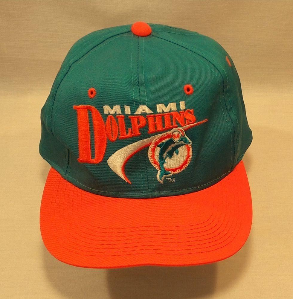 Vintage 90s Miami Dolphins Snap Back Baseball Hat Cap Embroidered Logo  Youngan  youngan  BaseballCap eb450a2b7b6a