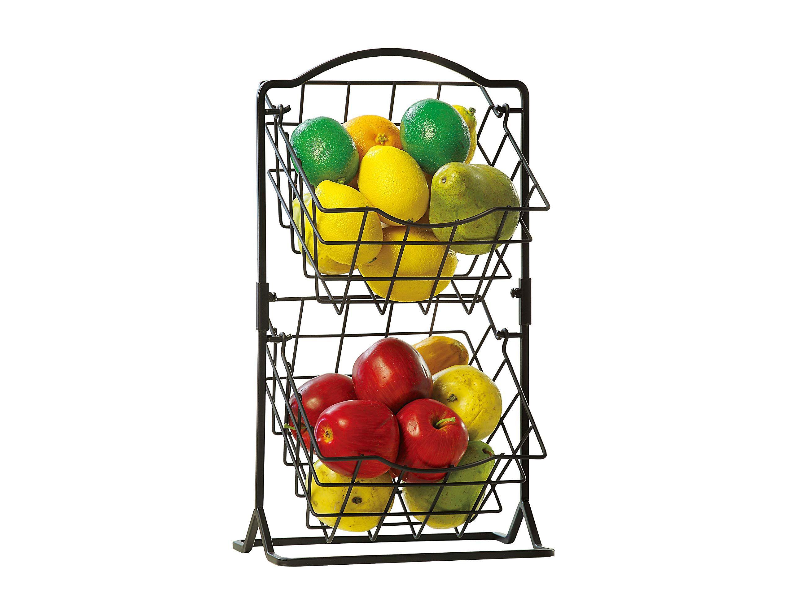 Sunnypoint 2 Tier Metal Mini Cou Fruit Storage Storage Baskets