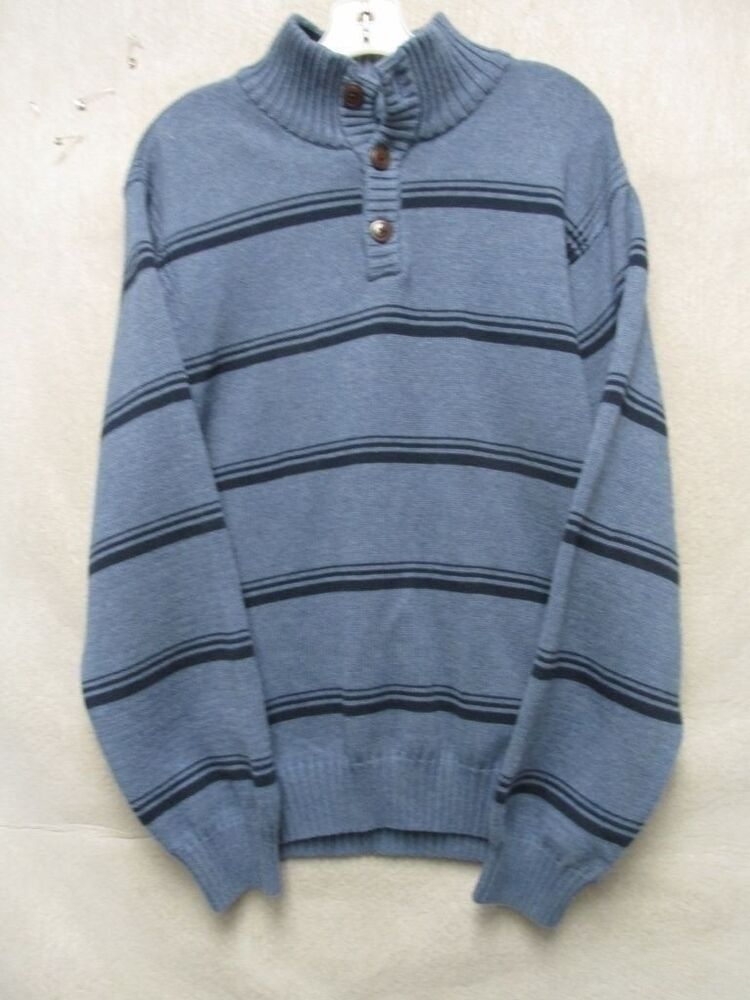 Details about w3818 izod bluenavy striped cotton knit 12