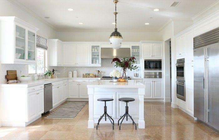 40 moderne Küchen in Weiß faszinieren durch Schick und ...