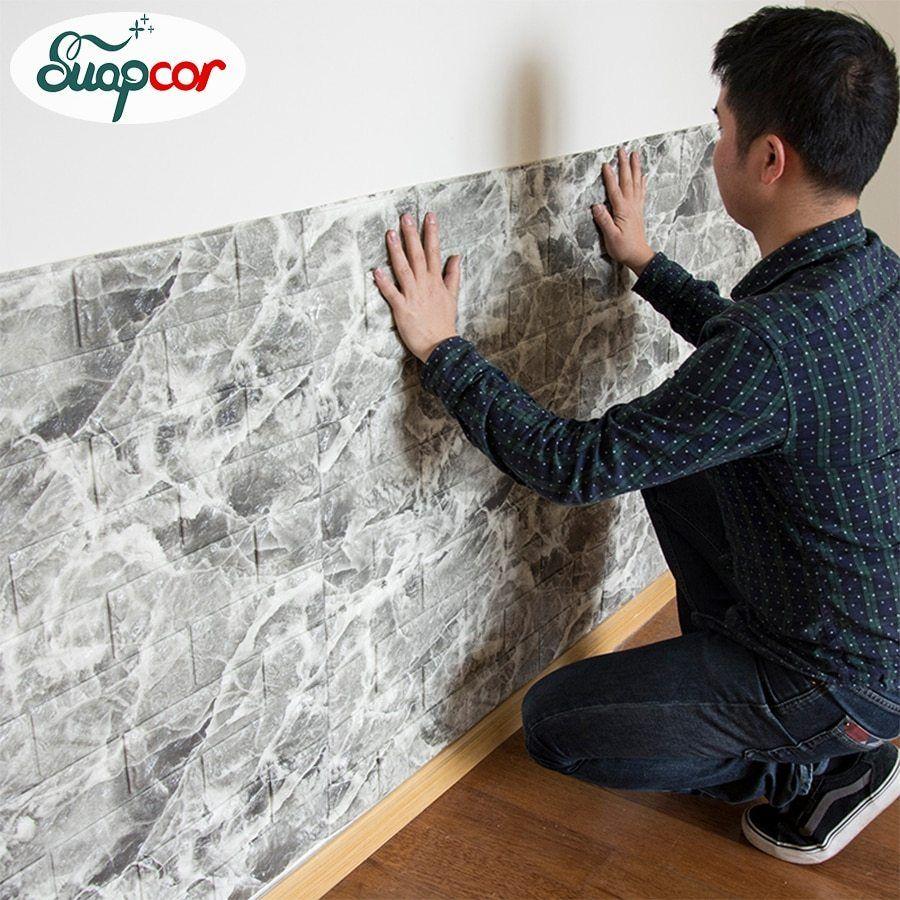 Self Adhesive 3d Foam Wallpaper For Kids Room Diy Creative Brick