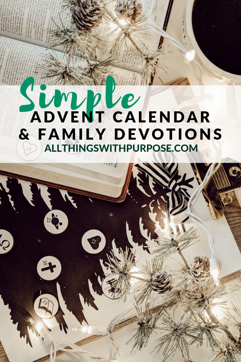 Printable Advent Calendar and Family Devotions for