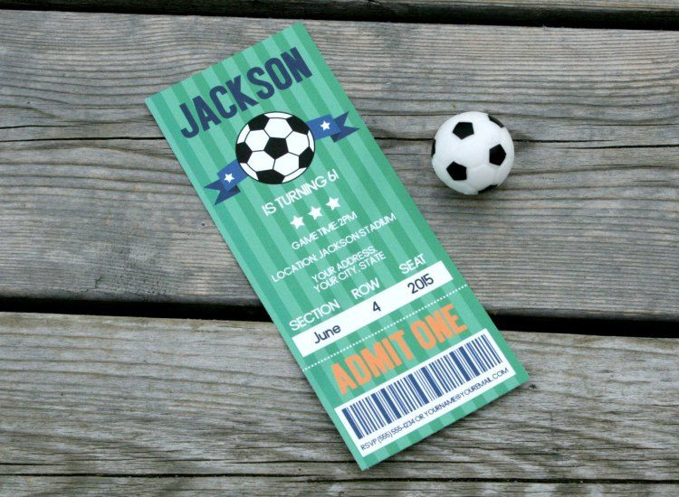 Free Printable and editable Soccer Ticket Invitation. http://www.yummypaper.co/free-soccer-invitation-free-printable-editable-pdf/
