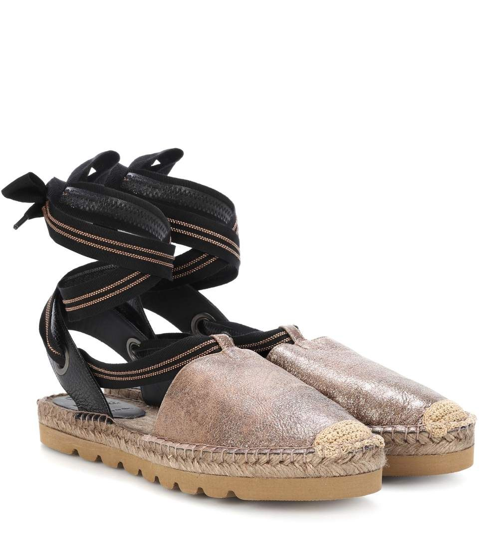 Metallic leather espadrilles Brunello Cucinelli EG1im60XEA