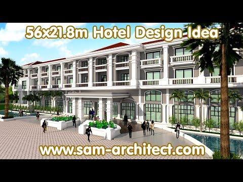 SketchUp Hotel Design Idea 65x21.8m Samphoas 03 - YouTube