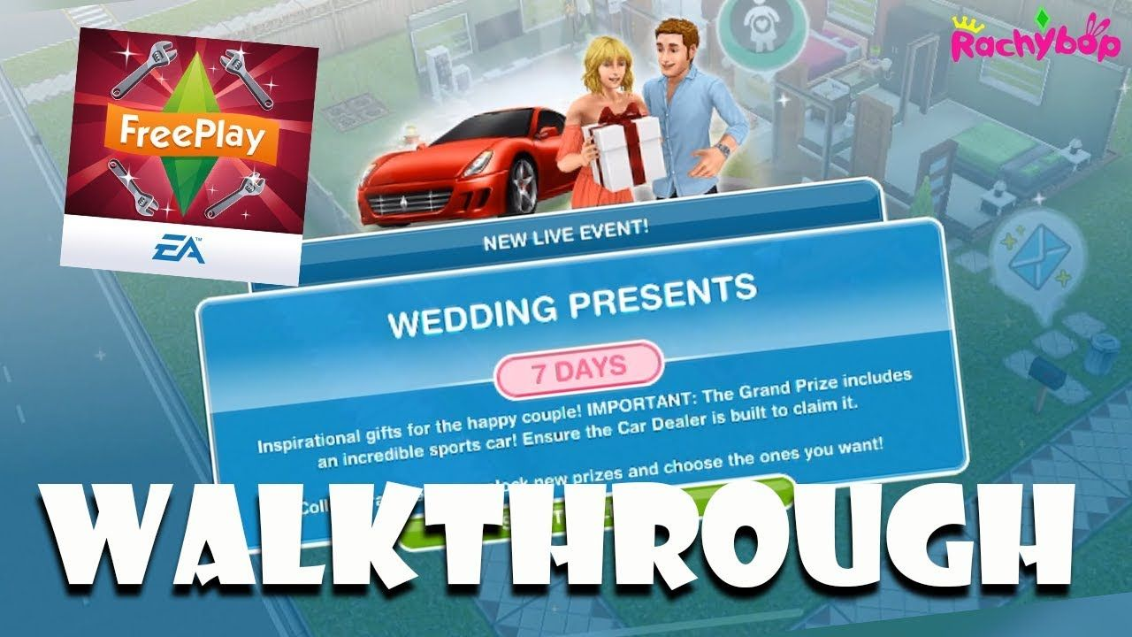 The Sims Freeplay Wedding Presents Live Event Walkthrough Prizes Live Events Sims The Incredibles