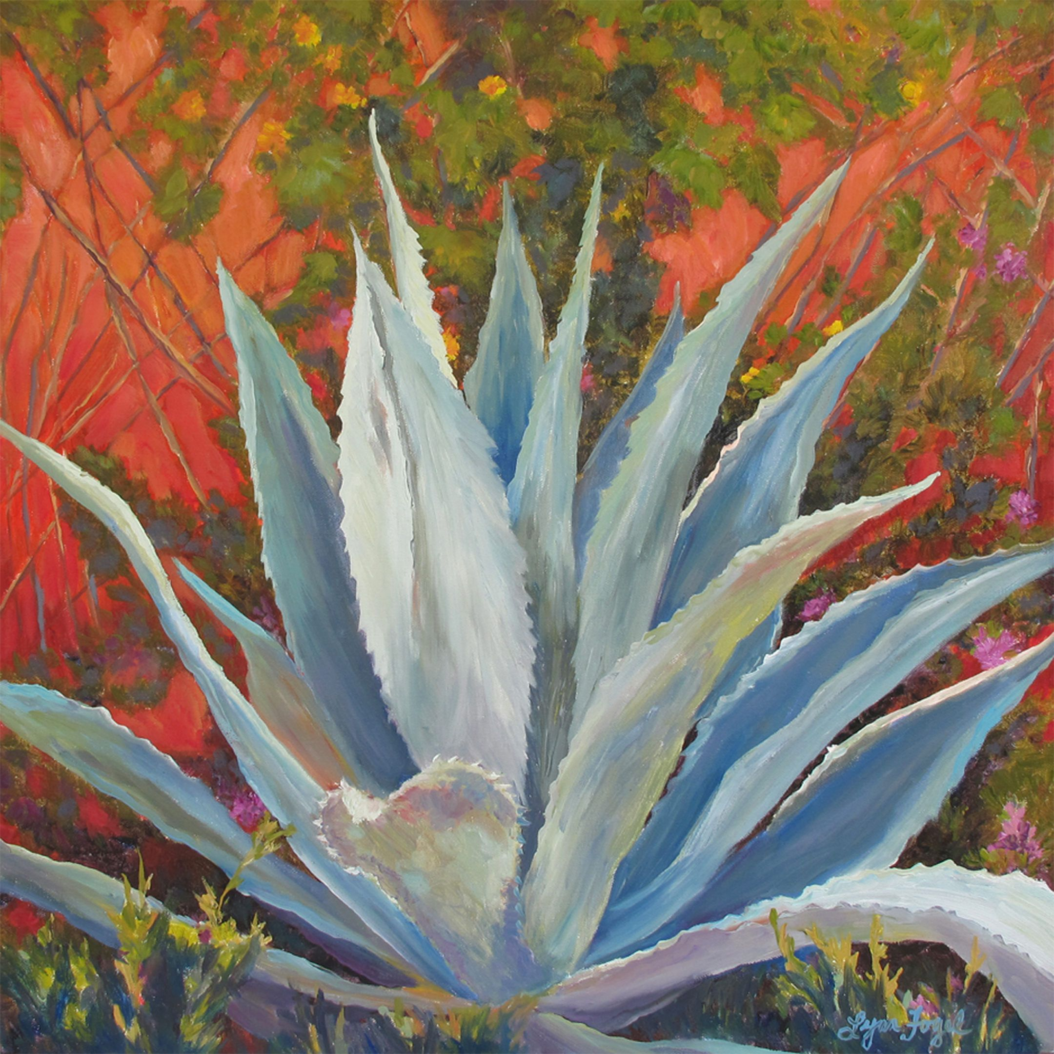 Blue Agave Wall Art Succulent Painting Agave Prints Succulent Art Prints Blue Agave Succulent Prints Cactus Wall Art C Cactus Wall Art Succulent Art Painting