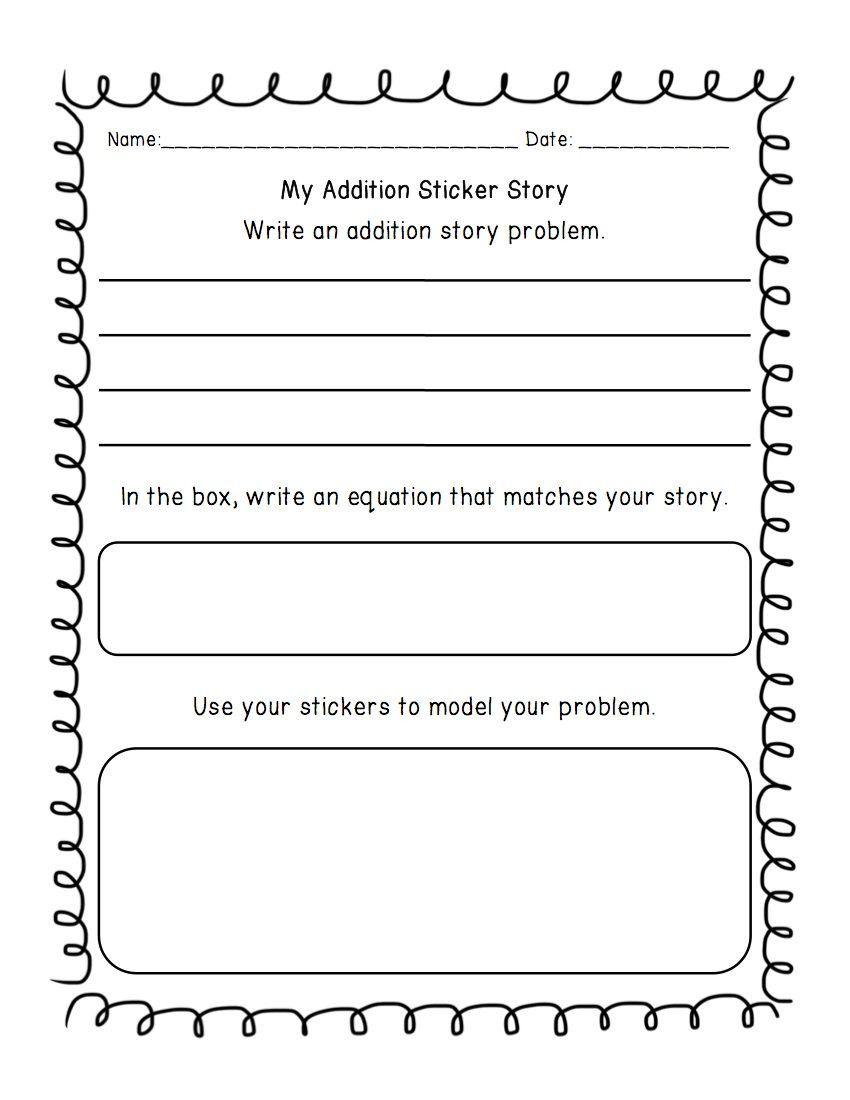 Kindergarten Addition Word Problems Worksheets Addition Subtraction Write A Word Problem Worksheet Subtraction Word Problems Word Problems Math Word Problems