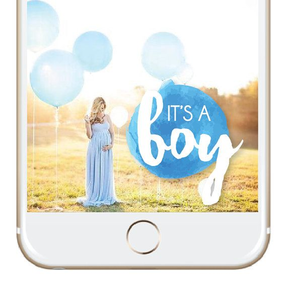 It's A Boy Snapchat Geofilter  - Instant Download & Immediately Ready for Snapchat - NO PERSONALIZATION