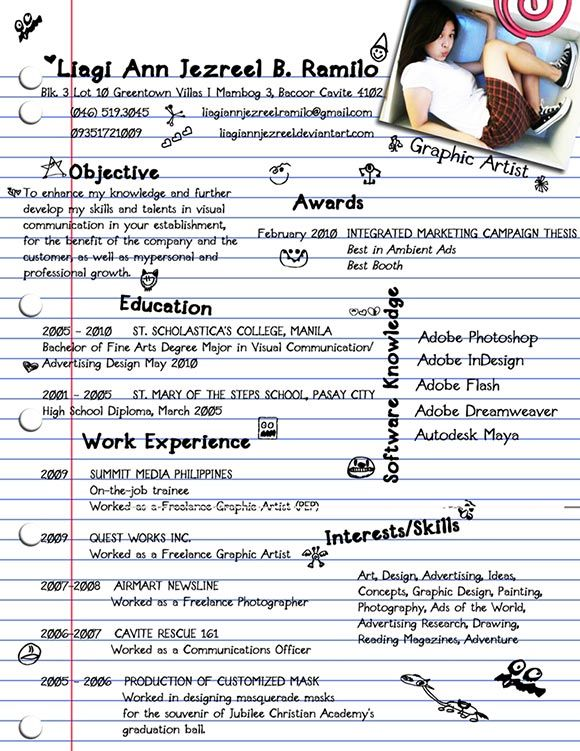 Liagi Ann Jezreel B Ramilo Ideas Pinterest Infographic - example of bad resume