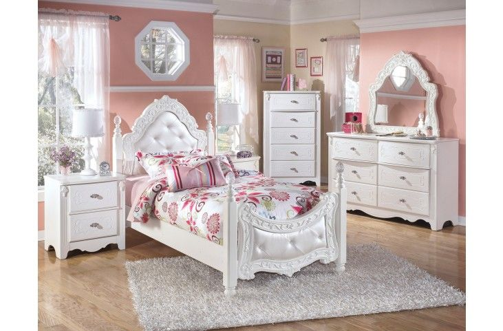 Exquisite Poster Bedroom Set From Ashley Asl B188 71 82n Coleman Furniture Girls Bedroom Sets Kids Bedroom Sets Kids Bedroom Furniture
