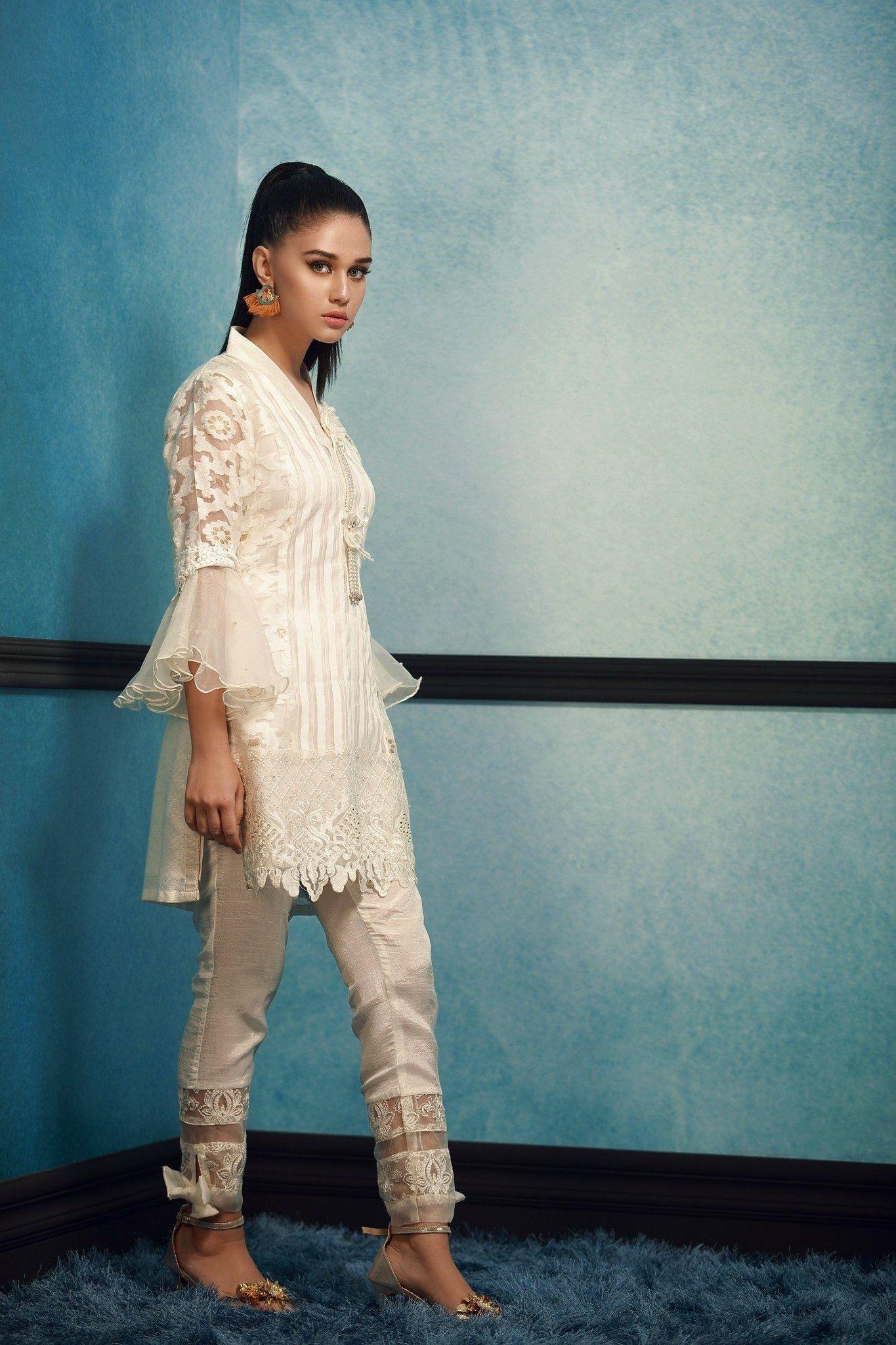 59db7bfeac Elegant 3 Piece Organza Designer Dress By Phatyma Khan Fall Collection 2017 Available  Online For Shopping. Pakistan Pret Wear #fashion #dubai #Pakistani ...