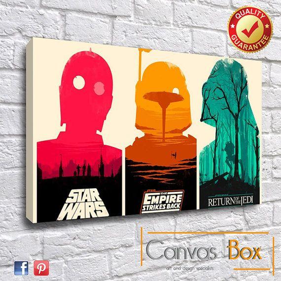 Star Wars Movie Box Framed Canvas Art Print por CanvasBoxUk en Etsy ...