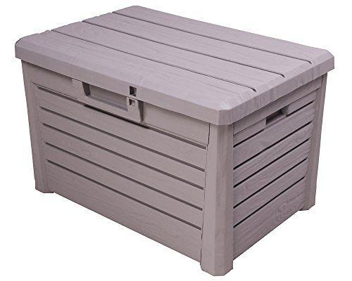 Kissenbox Florida Holz Optik Sitztruhe Auflagenbox Poolbo