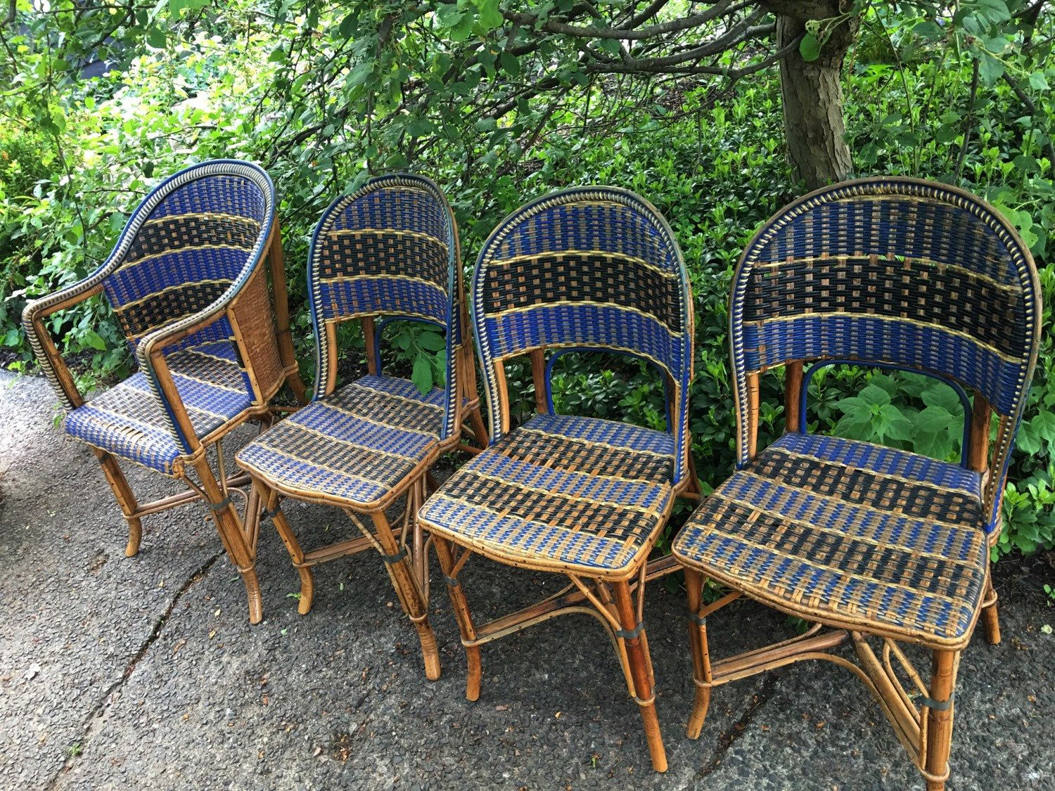 Antique French Bistro Rattan Chairs French Country Chairs French Country Bistro Chairs Vintage Blue Ra French Country Chairs Rattan Chair French Antiques