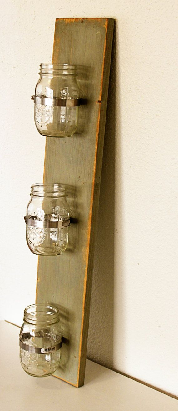 Put Some Candles In This And You Ve Got A Diy Wall Sconce Vertical Hmm Idees Pour La Maison Range Bouteille Decoration Murale