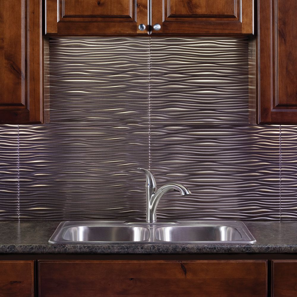 6 Kitchen Backsplash Ideas That Will Transform Your Space: Make Waves In Your Kitchen! FASADE PVC Backsplash Paneling